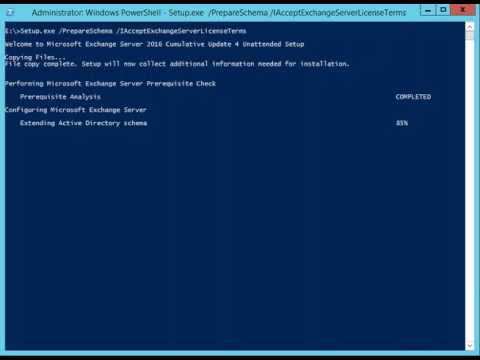 Prepare Active Directory and Domains for Exchange 2016