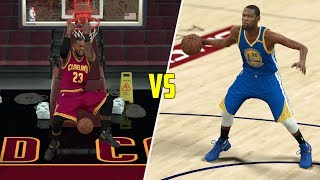 CAN KEVIN DURANT BEAT LEBRON JAMES IN A 1V1? NBA 2K17 GAMEPLAY!