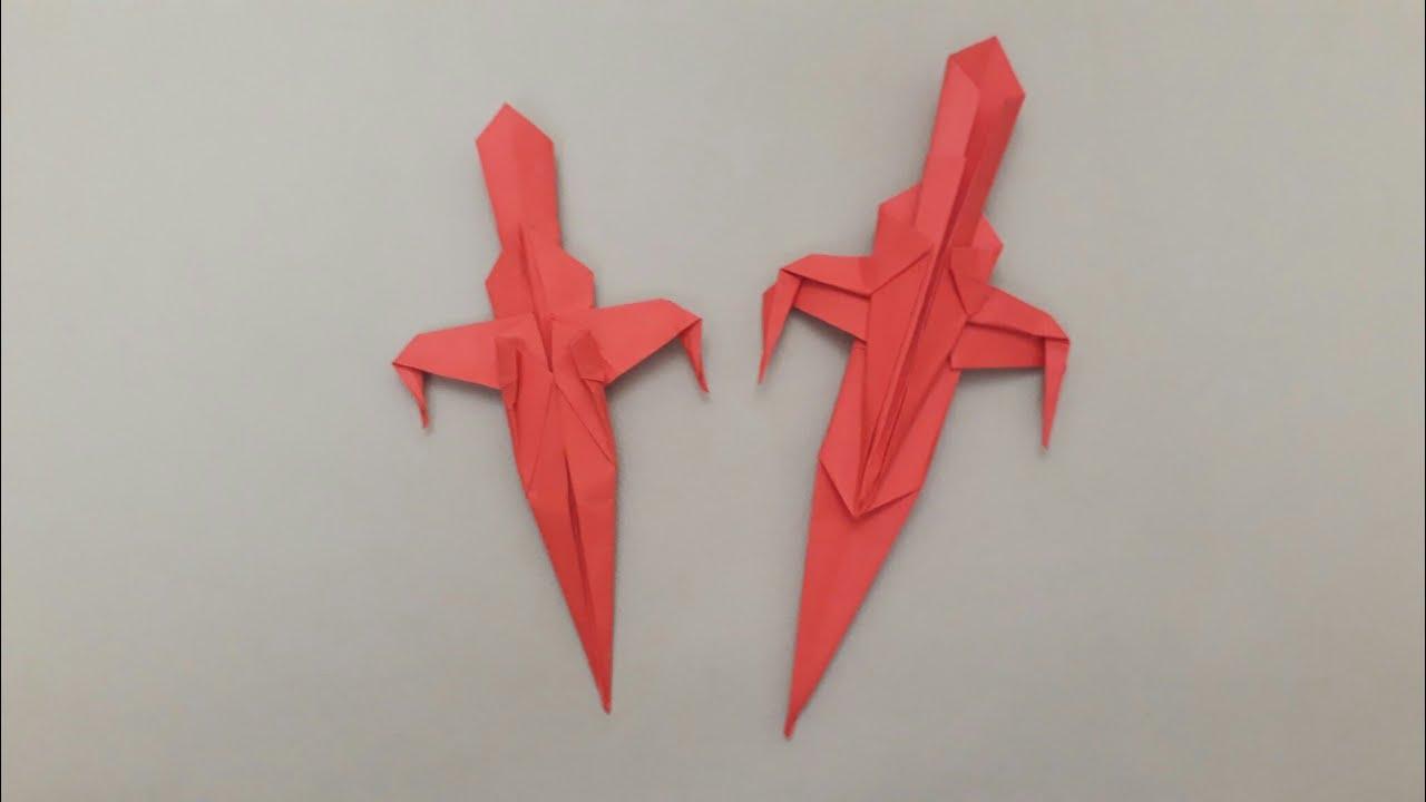 Kattan Kl Yapm Origami Swordyapitirici Ve Makas Olmadan Sword An Style How To Make A Paper Sworddont Use Glue And Scissors Dnyas