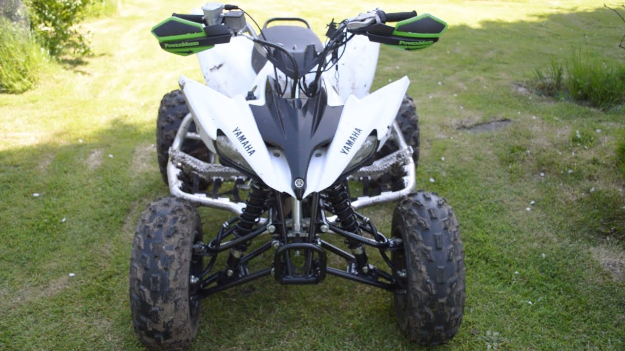 Yamaha Raptor 250 >> Update - Powermadd Handguards and Start up of Yamaha Raptor 250 - YouTube
