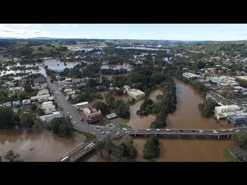 Northern Rivers Flood Footage - Lismore, NSW (June 2016)