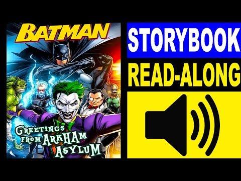 Batman Read Along Storybook, Read Aloud Story Books, Batman - Greetings from Arkham Asylum