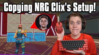 Trying NRG Clix's Setup In Arena! - Fortnite Battle Royale