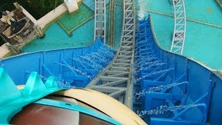 Atlantis Adventure Roller Coaster Front Seat POV Lotte World South Korea