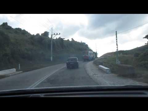 Driving rental car on Cuba