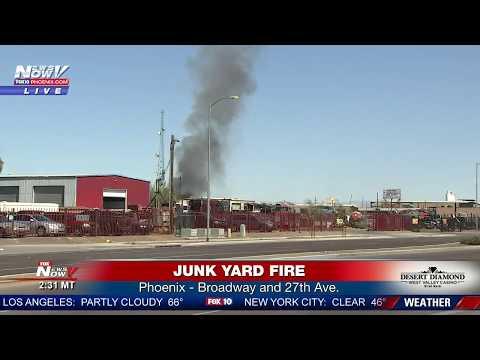 FNN: Junk yard fire in Phoenix, AZ & update on Uber self-driving accident