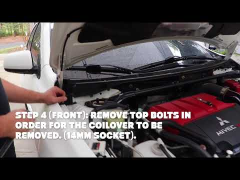How To: Coilover install Mitsubishi Evo X. (Step by Step)