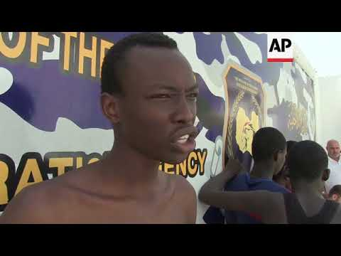 Migrants face difficult conditions in Libyan detention centre