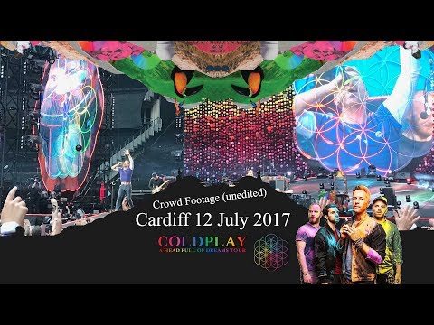 Coldplay at the Principality Stadium 12 July 2017 Cardiff Wales Head Full of Dreams Concert Clips
