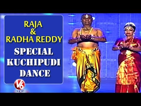 Special Kuchipudi Dance Performance By Raja And Radha Reddy | World Telugu Conference | V6 News