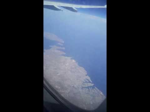 Malte vue du ciel depuis un Airbus d'air Algérie