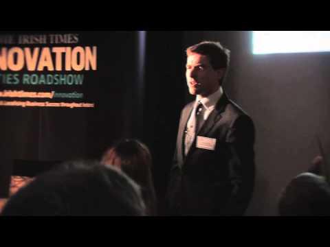 Dr Stephen Kinsella at The Irish Times Innovation Roadshow, UL