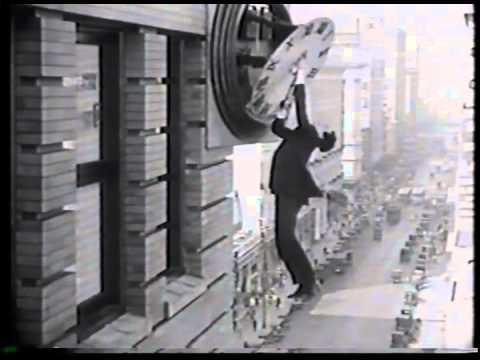 Silent Film Comedy Star Harold LLoyd & Abe Lincoln