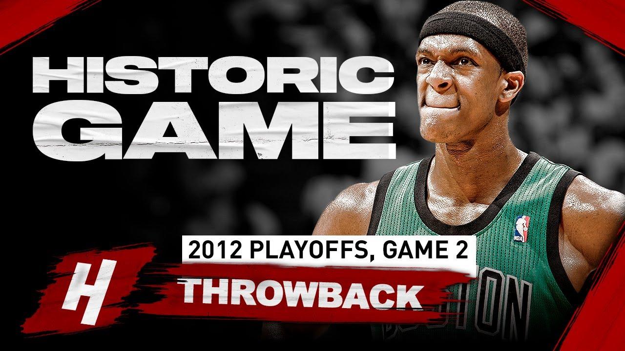 Nba Throwback Rajon Rondo Historic Performance Highlights Vs Heat Game 2 2012 Nba Playoffs Youtube