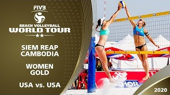 Women's Gold Medal: USA vs. USA | 2* Siem Reap (CAM) - 2020 FIVB Beach Volleyball World Tour