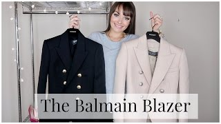 THE BALMAIN BLAZER || TRY ON & THOUGHTS ON COLOUR/SIZING ♥ April 2017