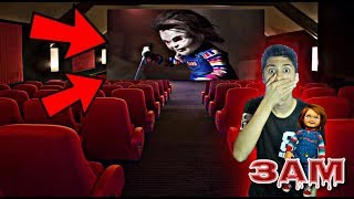 DO NOT WATCH CHILD'S PLAY MOVIE ON CINEMA WITH CHUCKY DOLL AT 3AM!! *OMG CHUCKY CAME TO THE CINEMA*