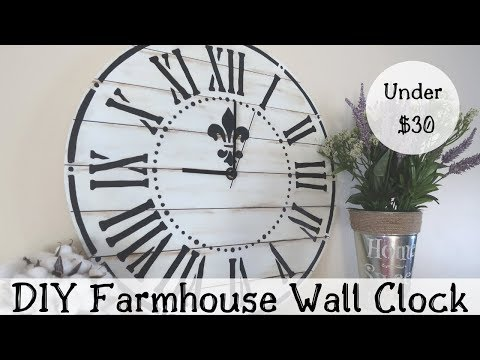 DIY FARMHOUSE WALL CLOCK | RUSTIC FARMHOUSE DECOR | BUDGET FRIENDLY FARMHOUSE DECOR
