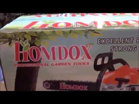 Homdox Chainsaw unboxing and short review - YouTube