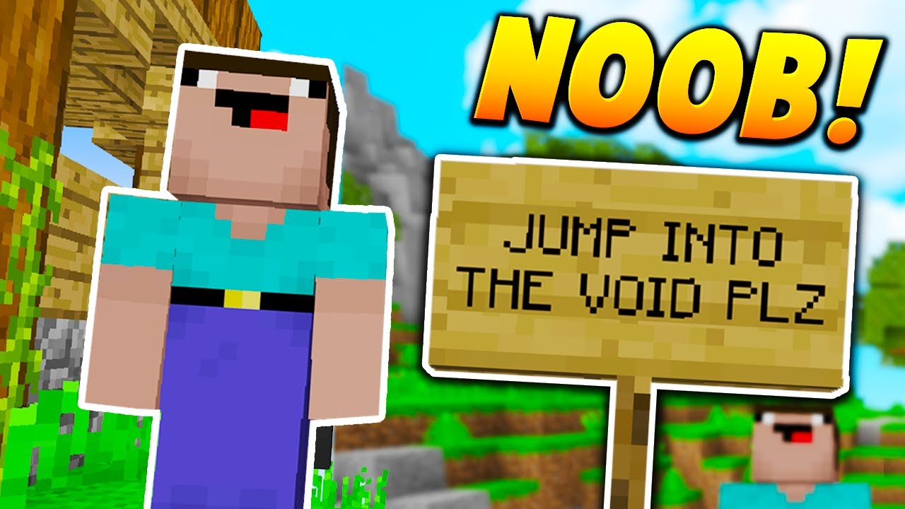Pretending To Be A Noob Minecraft Skywars Trolling Noob Experiment