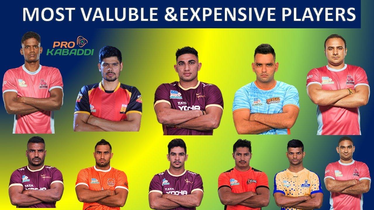 Pro kabaddi players