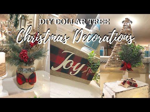 DIY DOLLAR TREE TRADITIONAL CHRISTMAS DECORATIONS