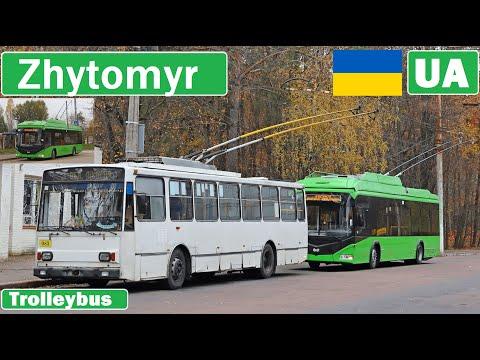 Ukraine , Zhytomyr trolleybus 2020 [4K]