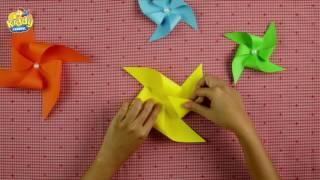 Tập 2 - DIY Đồ chơi trẻ em - CHONG CHÓNG GẤP GIẤY TREO NÔI - Kiddy Channel