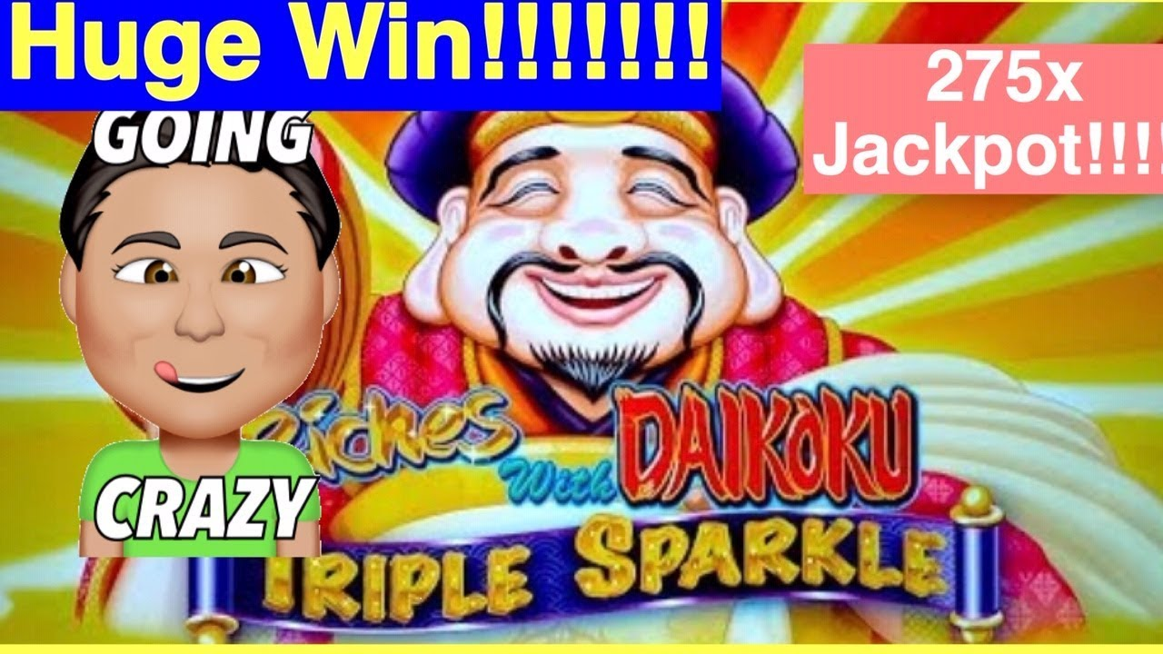 Download HUGE JACKPOT  Riches With Daikoku Triple Sparkle Slot!