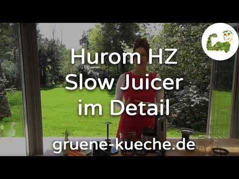 Hurom HZ Slow Juicer Teil im Test - (Teile 1-4, Entsafter komplett vorgestellt)