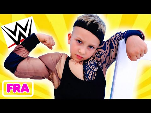 Vlad veut être fort comme une superstar de la WWE