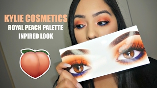 KYLIE COSMETICS ROYAL PEACH PALETTE INSPIRED LOOK