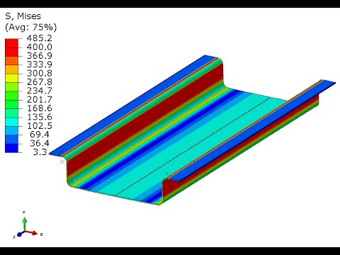 Deep Drawing: Forming a Channel -Abaqus CAE-Implicit-Standard
