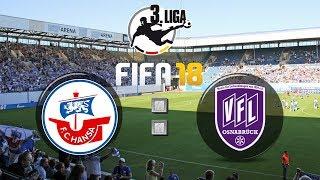 FIFA 18 FC Hansa Rostock : VfL Osnabrück - 3. Liga 13. Spieltag | Gameplay Deutsch Livestream