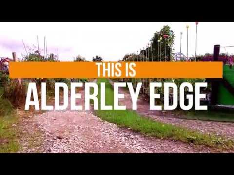 This is Alderley Edge - drone footage Cheshire.
