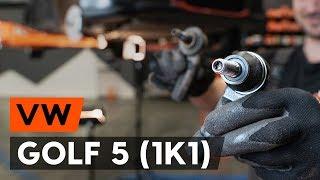 VW GOLF V (1K1) Raidetangon Pää asennus : ilmainen video