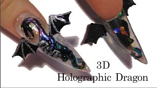 3D Holographic Dragon Acrylic Nail Art Tutorial | BPS Review #HOLOSEXUAL