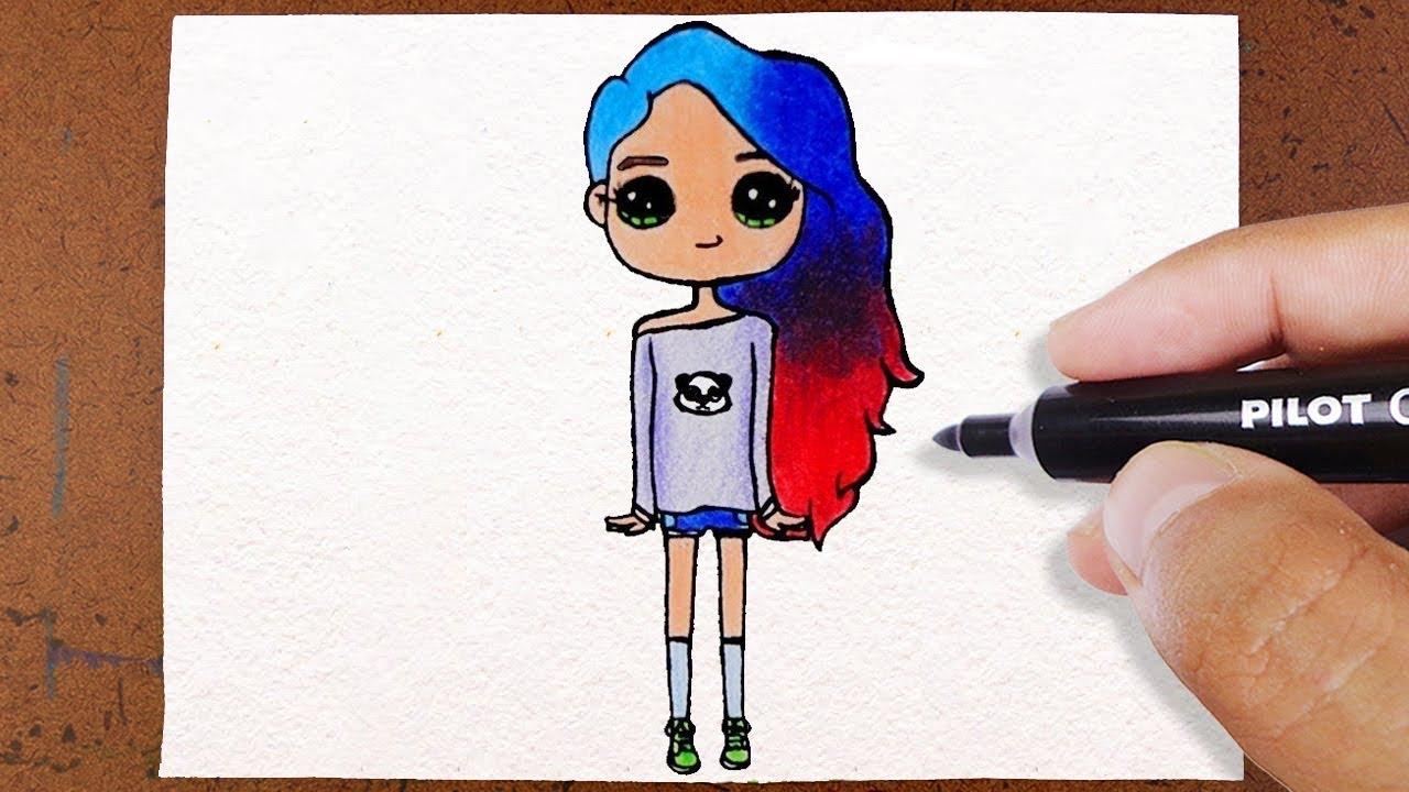 Como Desenhar Uma Bonequinha Tumblr How To Draw Colorindo E Desenhando