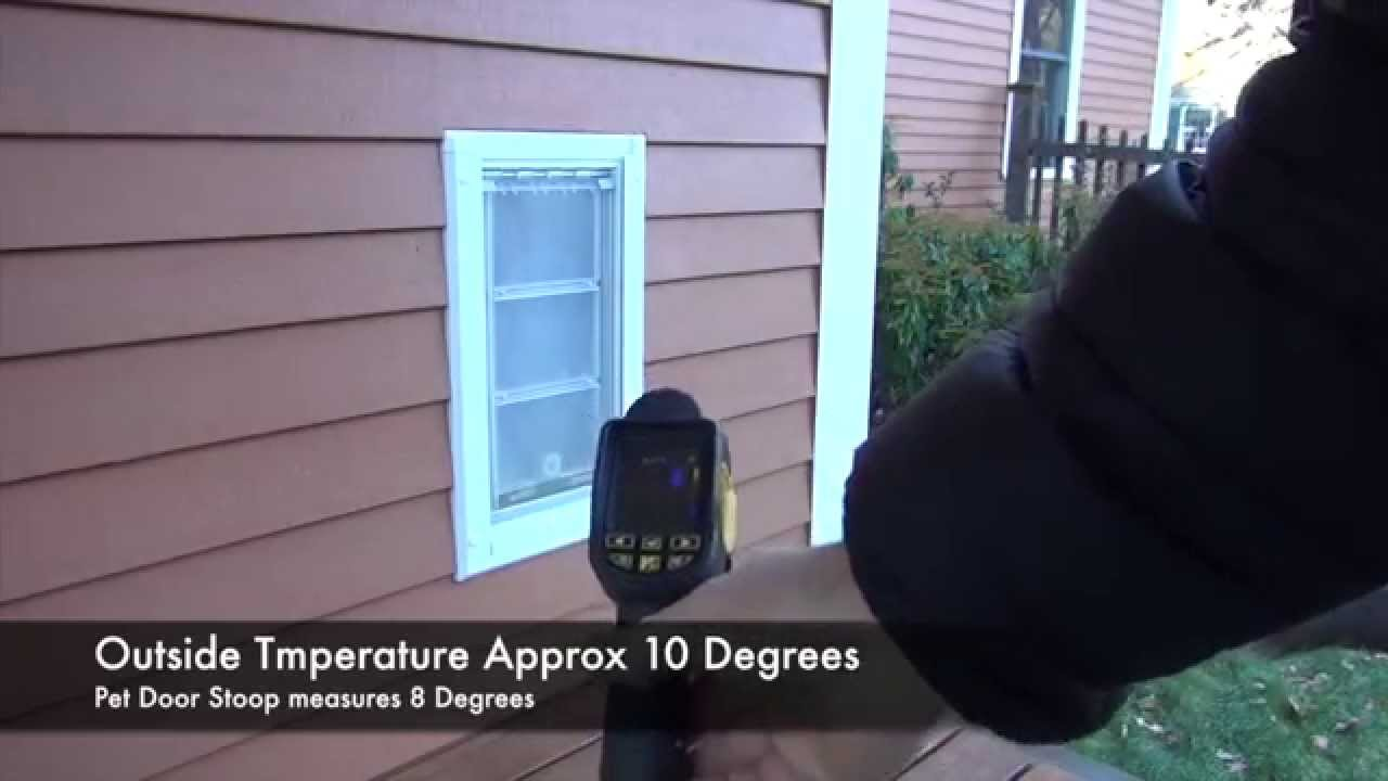 Endura Flap Pet Door Temperature Testing Youtube