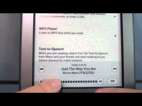 play mp3 on kindle touch