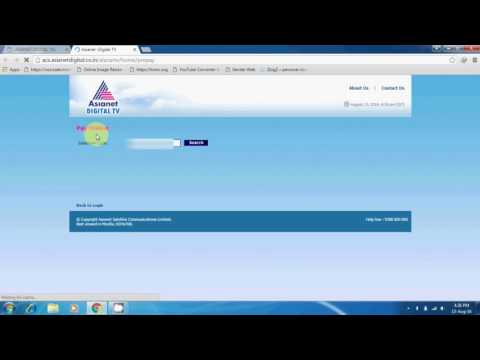 Asianet Cable Tv Bill Pay Online