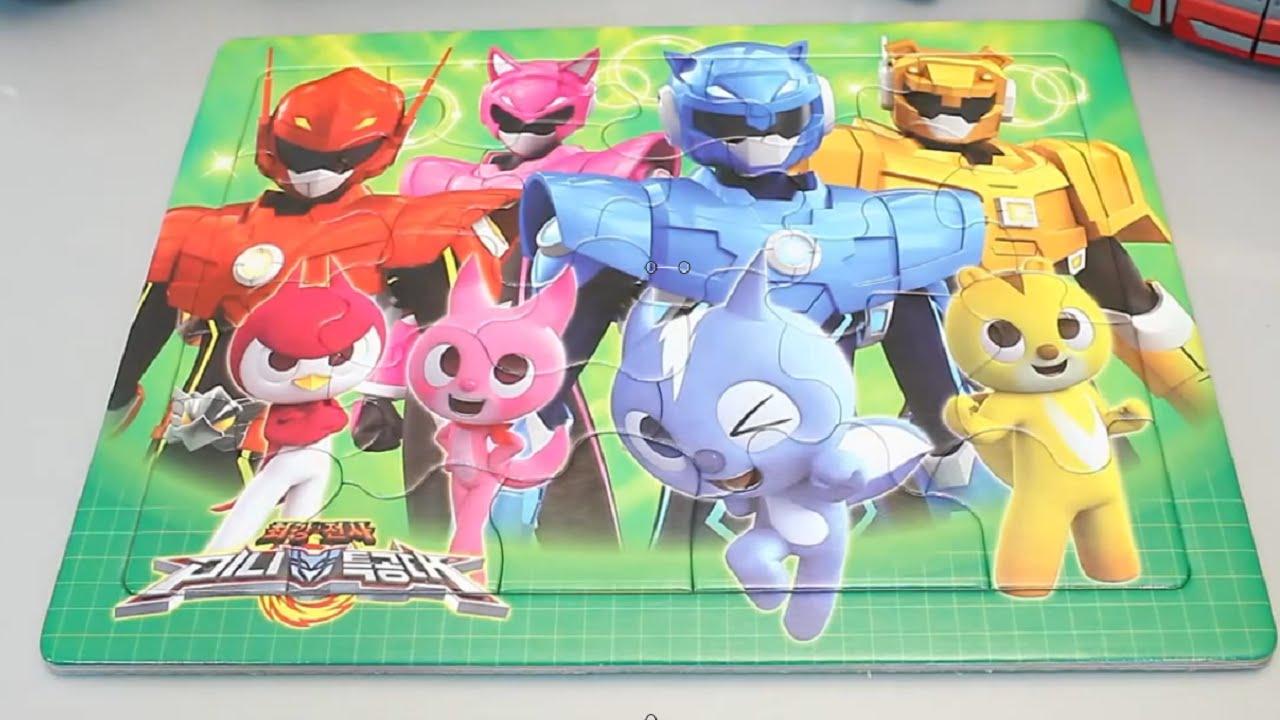 comprar hombre brillante en brillo Juegos de Rompecabezas Para Armar & Miniforce Puzzles Tayo Pororo Tobot Toy