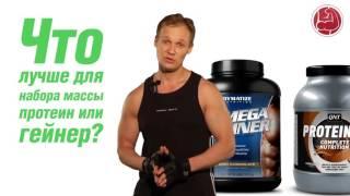 Watch  - Гейнер Или Протеин Для Набора Мышечной Массы