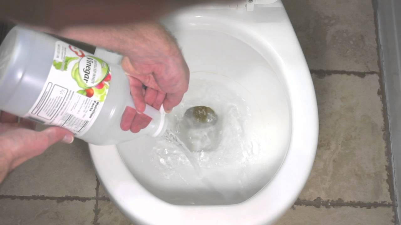 How to Remove Hard Water Buildup in Your Toilet Using Vinegar - YouTube