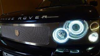 Land Rover Range Rover замена ангельских глазок в фаре  Тюнинг фар