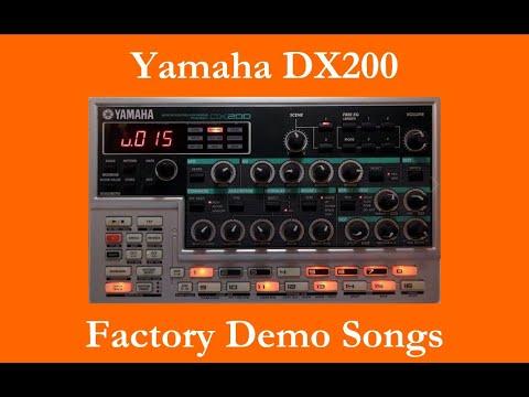 Yamaha DX200 - Démos internes - Factory Demo Songs