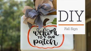 Fall Door Hanger | Adhesive Vinyl