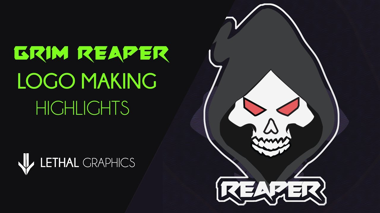 grim reaper logo making highlights adobe photoshop cc template