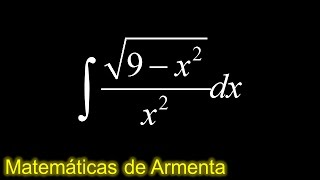 integracion por sustitucion trigonometrica ejemplo 9