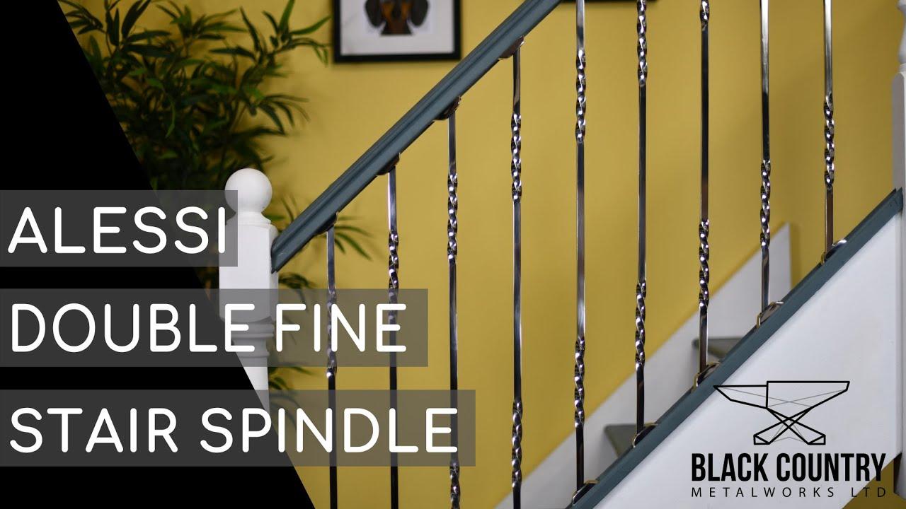 Twist Stainless Steel Stair Spindle
